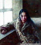 艾轩油画作品3:远方飘来陌生的歌 高清图片下载