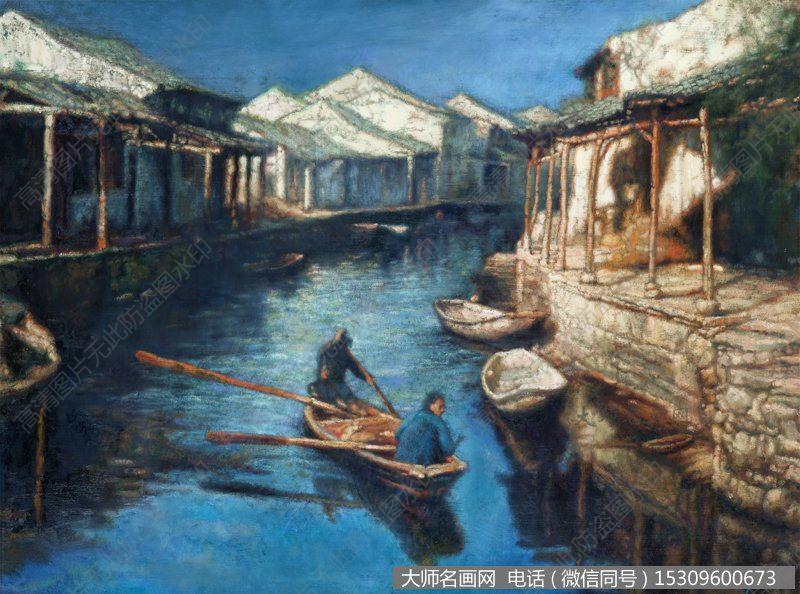 陈逸飞风景油画作品5 高清图片下载