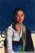 杨飞云人物油画作品2 甘南藏族女孩 超高清大图下载