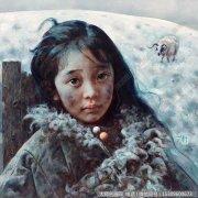 艾轩人物油画作品4 白雪覆盖了午后 高清图片下载