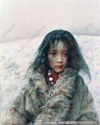 艾轩人物油画作品7 来自狼谷的孩子 高清图片下载