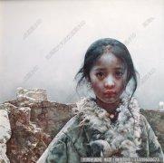 艾轩人物油画作品12 午夜下过薄薄的雪 高清图片下载