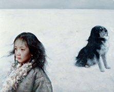 艾轩人物油画作品14 冻土带悄寂无声 高清图片下载