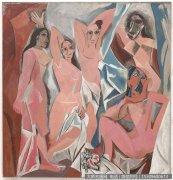 毕加索油画作品41 亚威农少女 高清图片下载