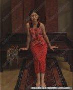 杨飞云人物油画作品11 女儿榻 超高清大图下载