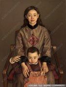 杨飞云人物油画作品12 圣洁的爱 高清图片下载