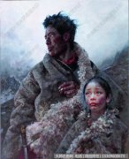 艾轩人物油画作品33 穿越狼谷 高清图片下载