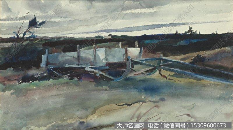 怀斯水彩淡彩画风景作品21 高清图片下载