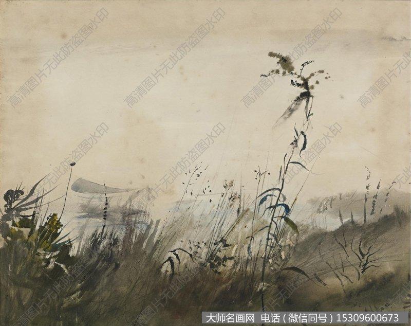 怀斯水彩淡彩画风景作品29 高清图片下载