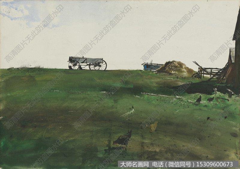 怀斯水彩淡彩画风景作品35 高清图片下载