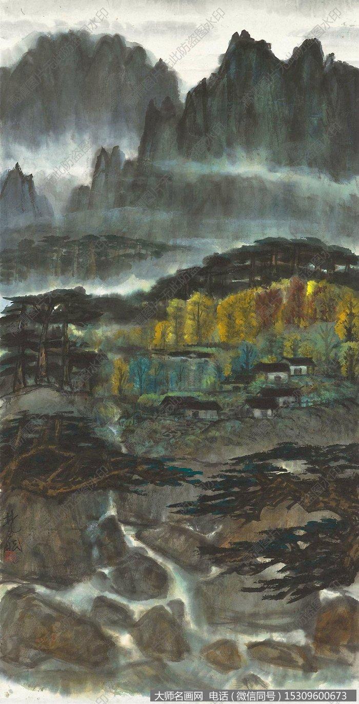林风眠国画风景作品29 高清图片下载