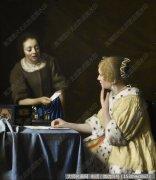 维米尔人物油画作品39 高清图片下载