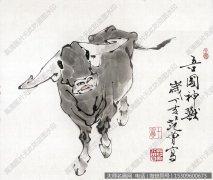 范曾国画作品27 牛 高清图片下载
