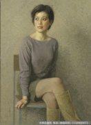 靳尚谊人物油画作品27 一个朋友的肖像 高清图片下载