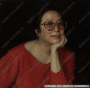 靳尚谊人物油画作品31 女士肖像 高清图片下载