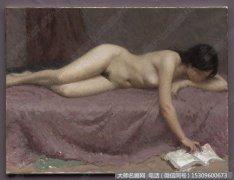 靳尚谊作品37 看书的女人体 高清图片下载
