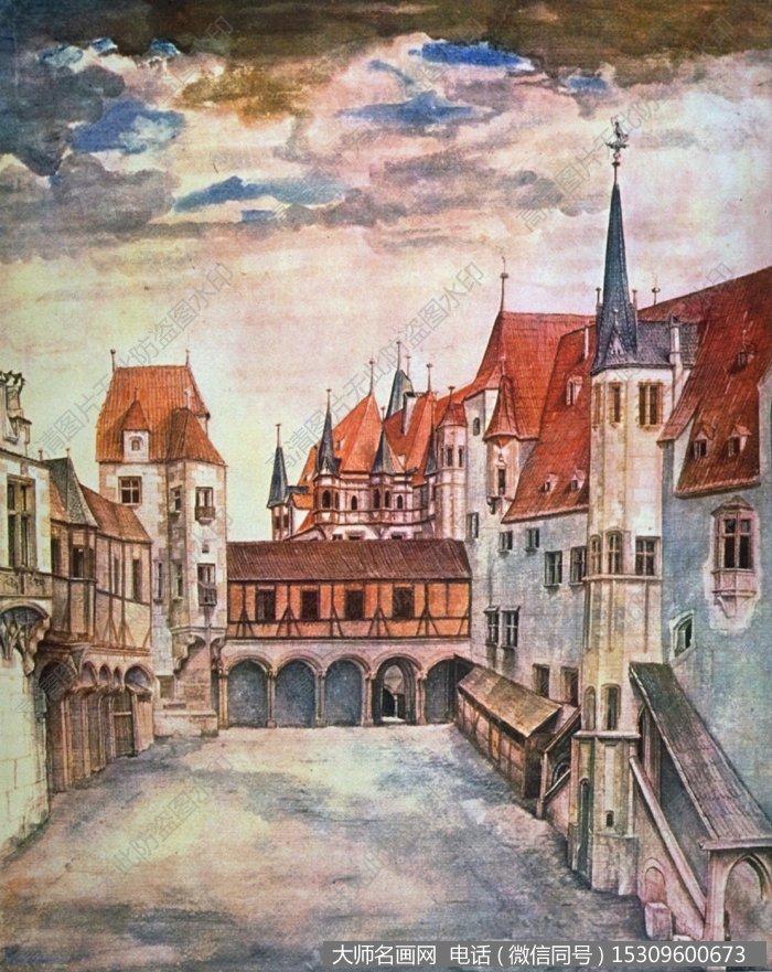 丢勒风景油画作品8 高清图片下载