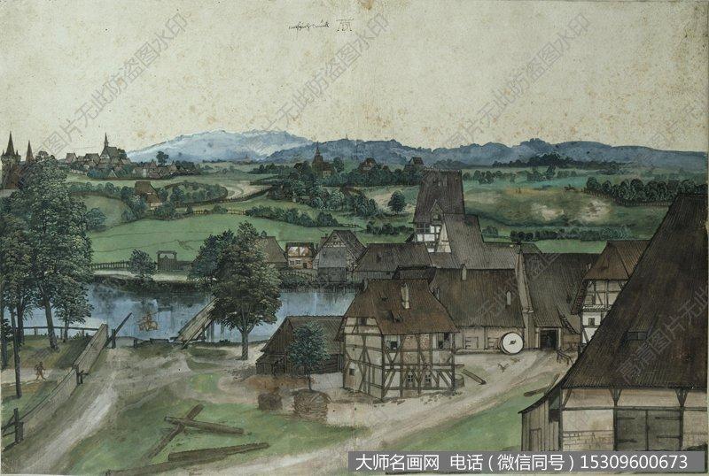 丢勒风景油画作品37 高清图片下载