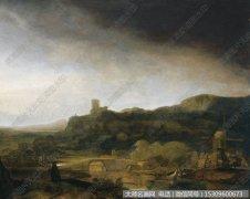伦勃朗风景油画作品47 高清图片下载