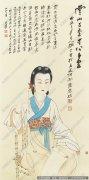 张大千仕女国画作品39 高清图片下载