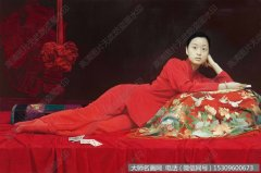王沂东人物油画作品76 红绣球 高清图片下载