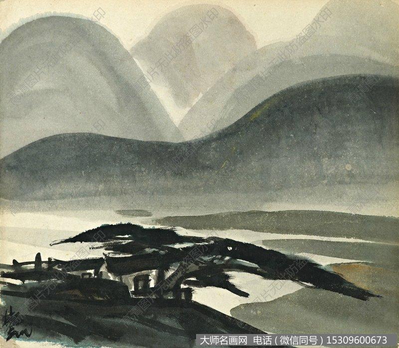 林风眠国画风景作品97 高清图片下载_大师名画网