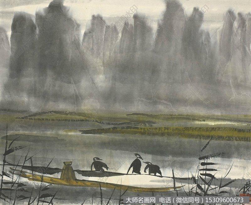 林风眠国画风景作品103 高清图片下载