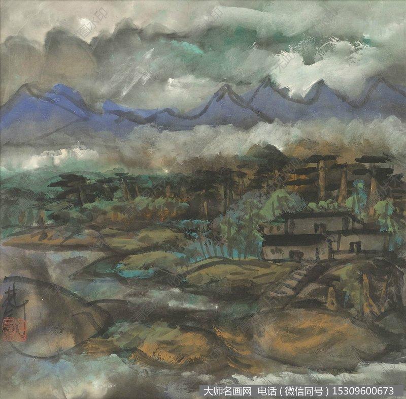 林风眠国画风景作品112 高清图片下载