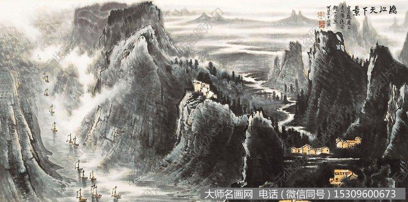 李可染山水画_李可染山水画作品64 高清图片下载_大师名画网