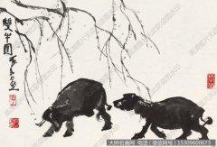 李可染国画作品67 高清图片下载
