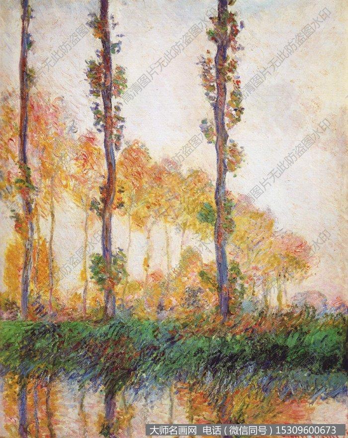 莫奈風景油畫作品56 高清圖片下載