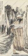 张大千山水画作品85 高清图片下载