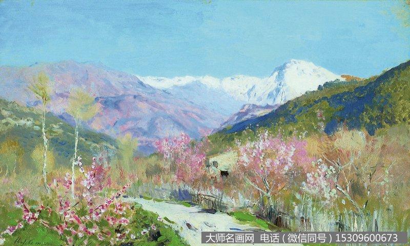 列维坦 风景油画作品3 高清图片下载