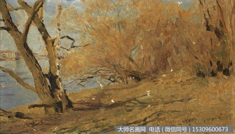 列维坦 风景油画作品4 高清图片下载