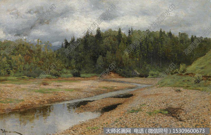 列维坦 风景油画作品6 高清图片下载
