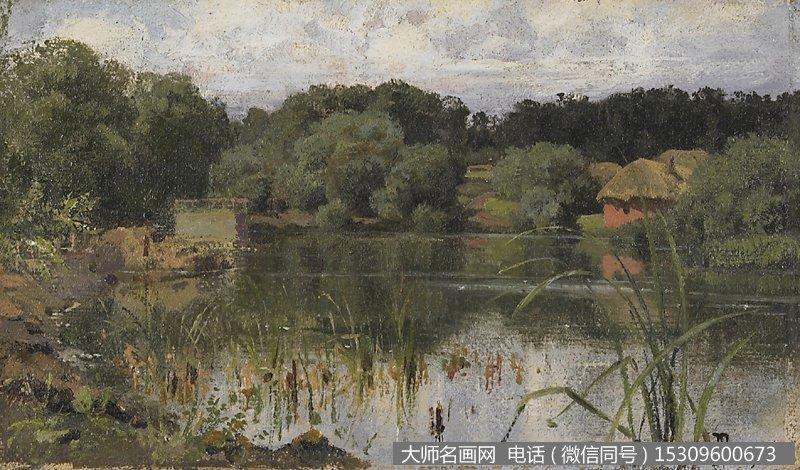 列维坦 风景油画作品24 高清图片下载