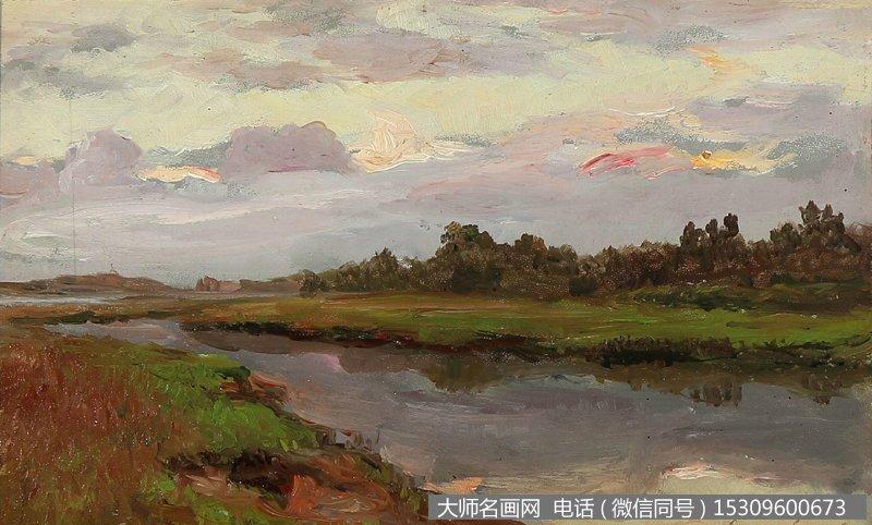 列维坦 风景油画作品29 高清图片下载