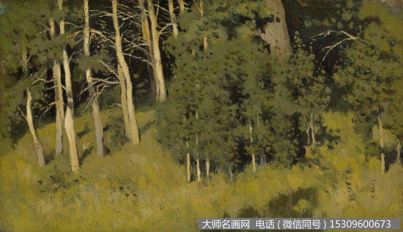 列维坦 风景油画作品37 高清图片下载