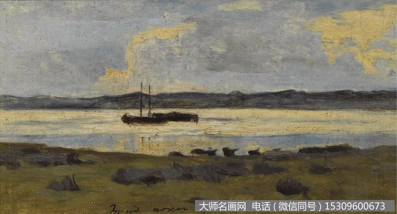 列维坦 风景油画作品36 高清图片下载