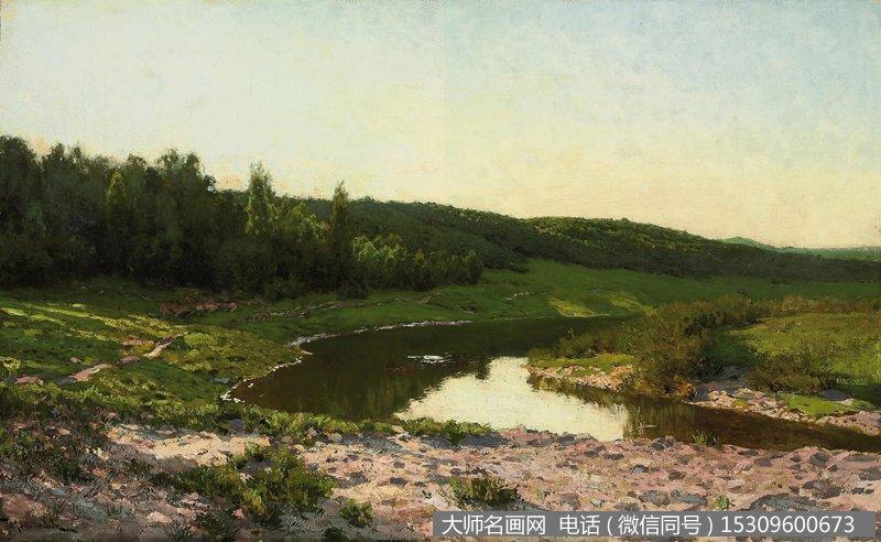 列维坦 风景油画作品43 高清图片下载