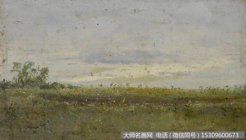 列维坦 风景油画作品45 高清图片下载