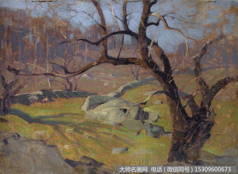 列维坦风景油画作品48 高清图片下载
