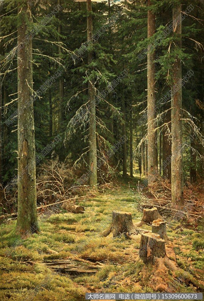 希施金 风景油画作品13 高清图片下载