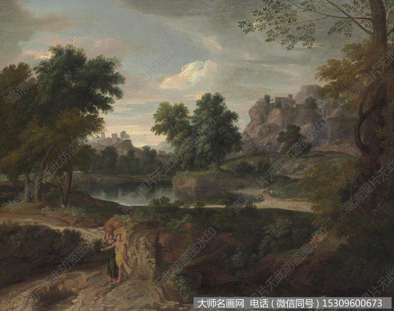 米勒 风景油画作品27 高清图片下载