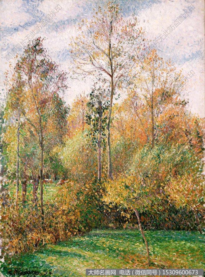毕沙罗 风景油画作品12 高清图片下载