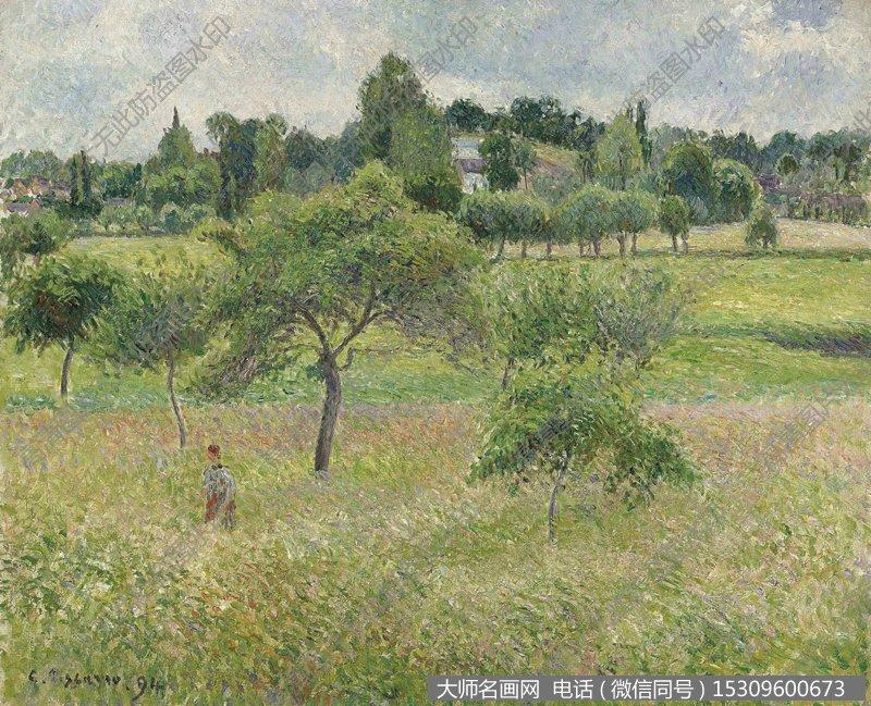 毕沙罗 风景油画作品13 高清图片下载