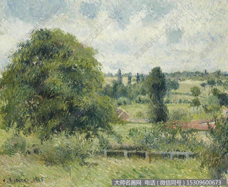 毕沙罗 风景油画作品15 高清图片下载