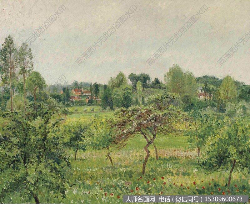 毕沙罗 风景油画作品19 高清图片下载