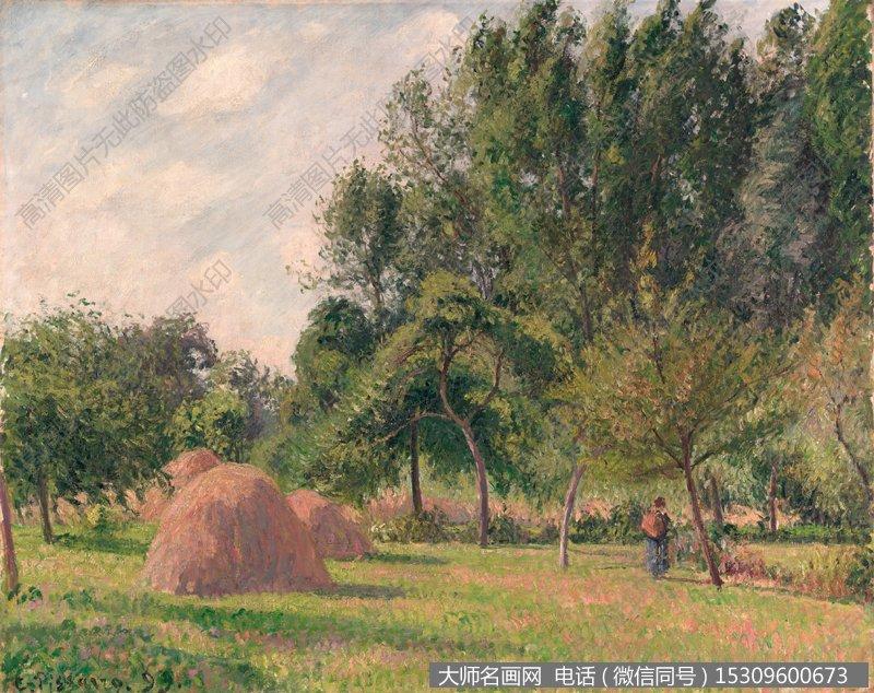 毕沙罗 风景油画作品23 高清图片下载
