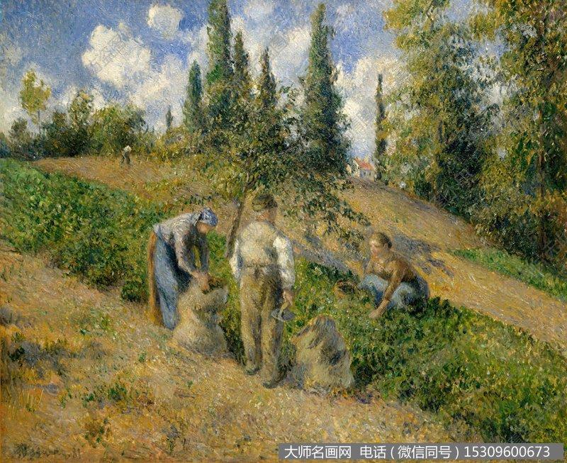 毕沙罗 风景油画作品24 高清图片下载